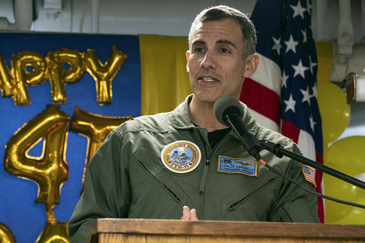 Capt. Carlos Sardiello aircraft carrier USS Theodore Roosevelt