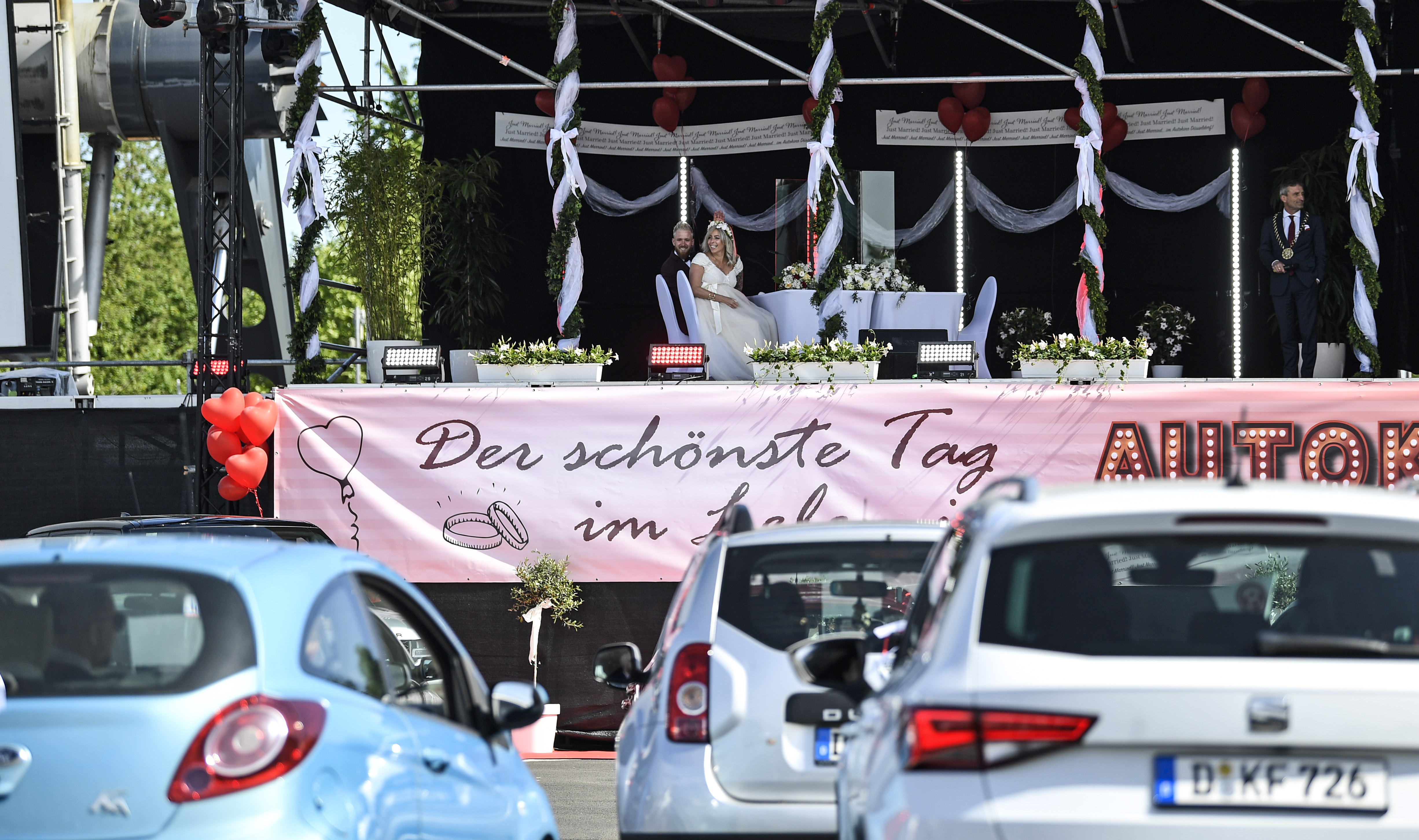 Virus Outbreak Germany Wedding