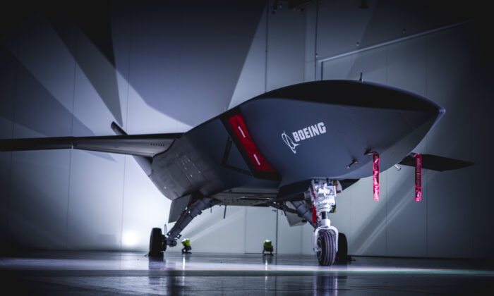The Loyal Wingman, the first Australian-made military aircraft in 50 years. (Supplied by Boeing)