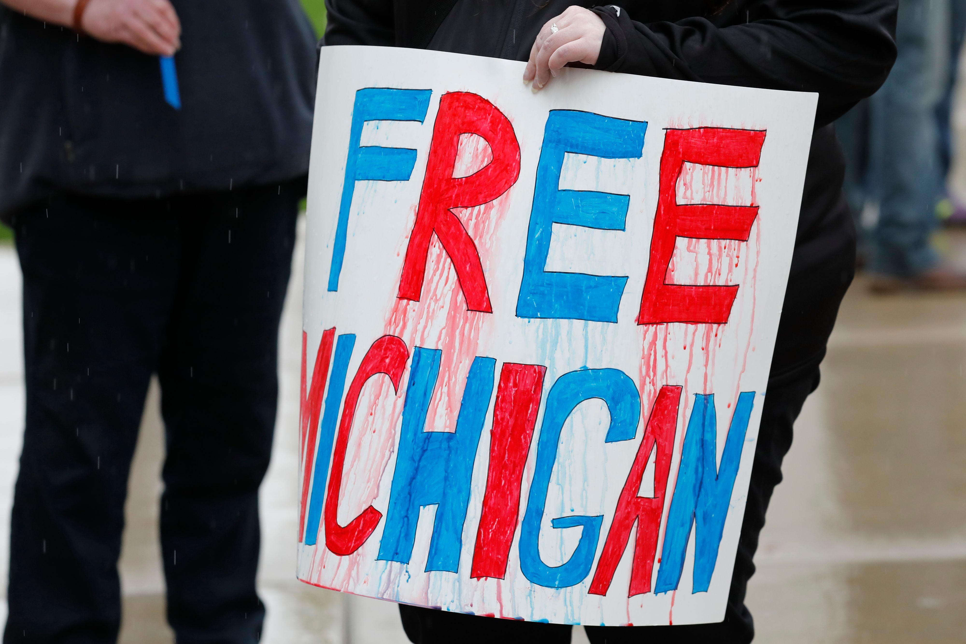 anti lockdown Rally Michigan