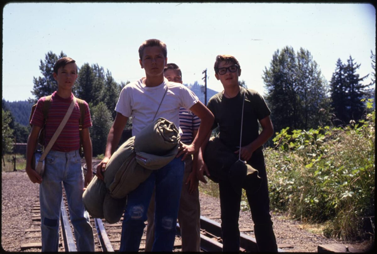 """four boys going camping in """"Stand By Me"""""""