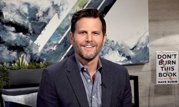 Dave Rubin in his studio in Los Angeles on April 28, 2020. (The Epoch Times)