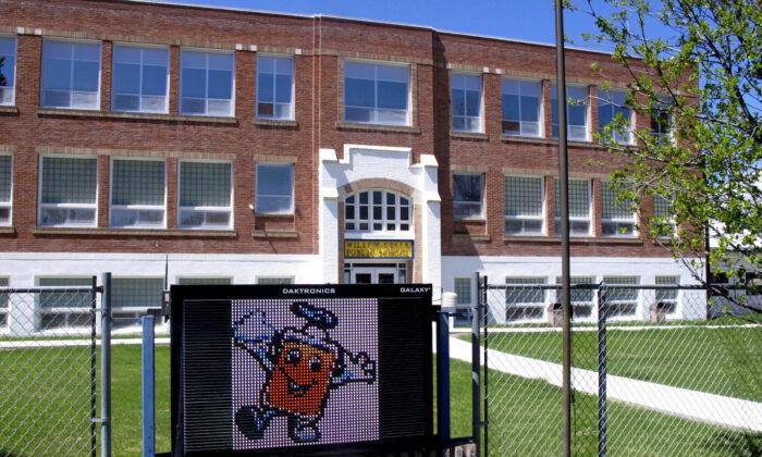 Willow Creek School in Willow Creek, Mont., on May 4, 2020. (Matt Volz/AP Photo)