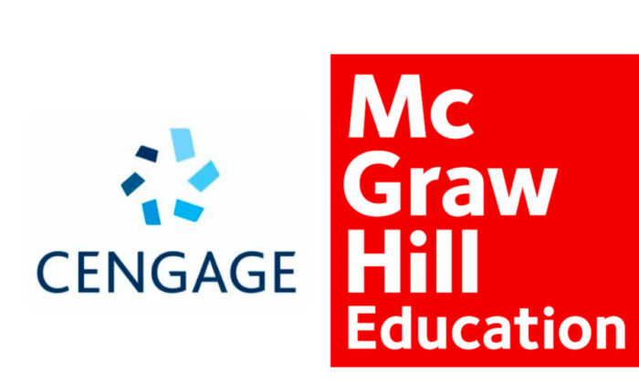 Logos of Cengage and McGrw-Hill. (Illustration/Epoch Times)