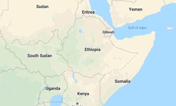 A map of Somalia in a Google screenshot. (Google Maps)