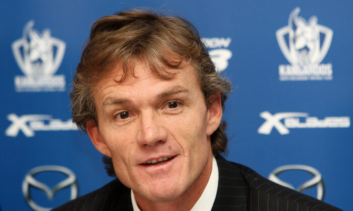 Dean Laidley announces that he is standing down as coach of the North Melbourne Kangaroos AFL Club, on June 16, 2009 in Melbourne, Australia.  (Quinn Rooney/Getty Images)