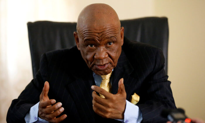 Lesotho's Prime Minister Thomas Thabane speaks during an interview with Reuters at State House in the capital Maseru, on Feb. 27, 2015. (Siphiwe Sibeko/Reuters)