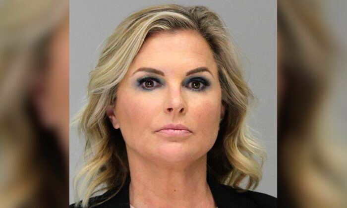 Shelly Luther in a booking photo on May 5, 2020. (Dallas County Sheriff's Office via AP)