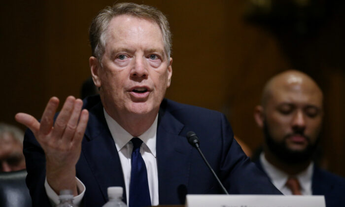 "U.S. Trade Representative Robert Lighthizer testifies before a Senate Finance Committee hearing on ""The President's 2019 Trade Policy Agenda and the United States-Mexico-Canada Agreement"" on Capitol Hill in Washington, U.S., on June 18, 2019. (Leah Millis/Reuters)"