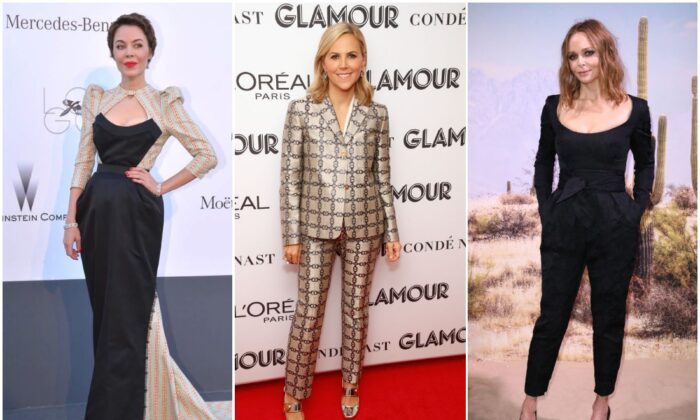 (L-R) Ulyana Sergeenko; Tory Burch; Stella McCartney. (ALBERTO PIZZOLI/AFP via Getty Images; Astrid Stawiarz/Getty Images for Glamour; John Phillips/Getty Images for The Business of Fashion)