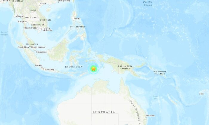 An earthquake with a magnitude 6.8 struck in the Banda Sea near Indonesia on Wed., May 6, 2020. (USGS)