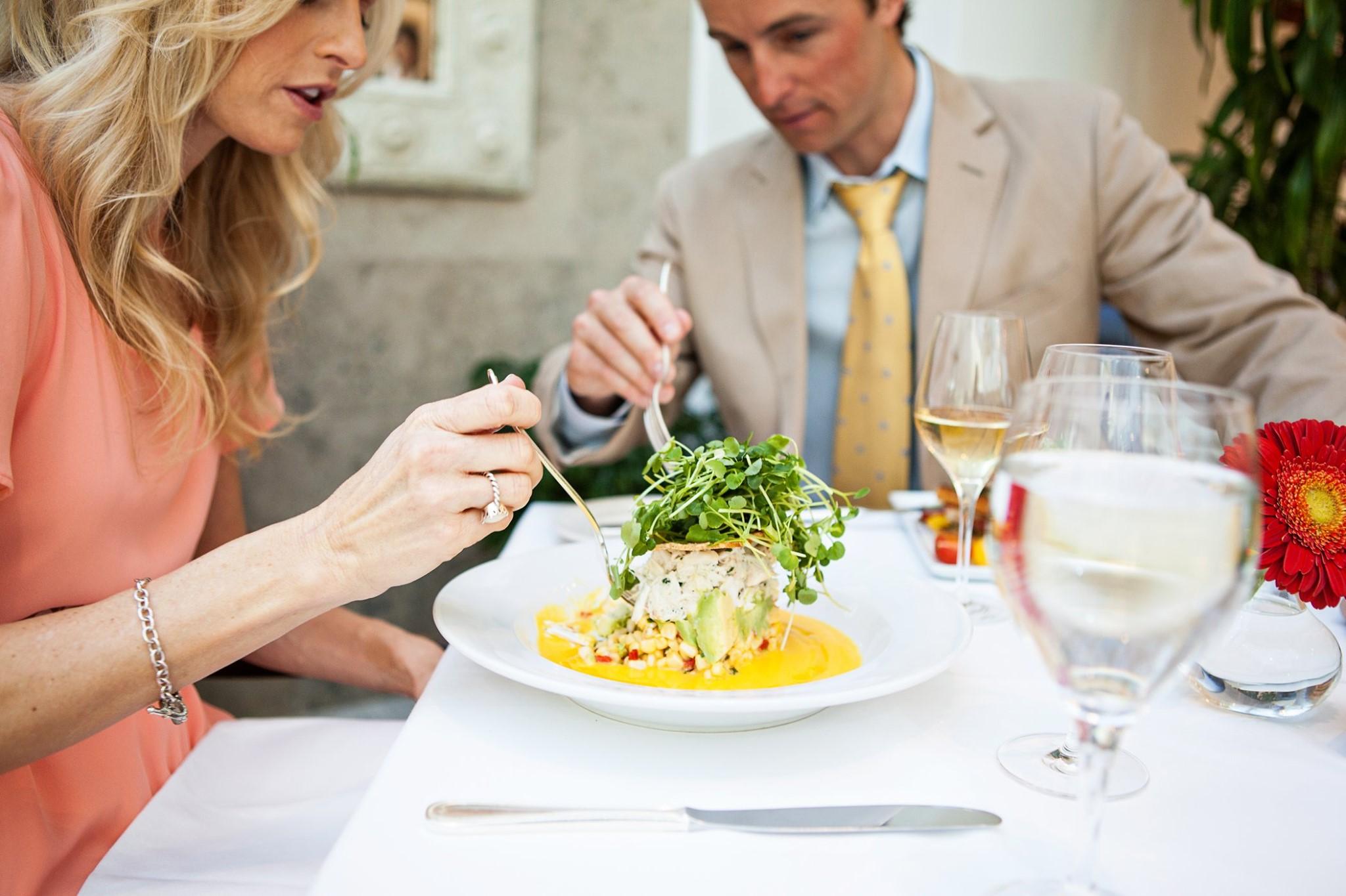 crab dish at palmetto cafe