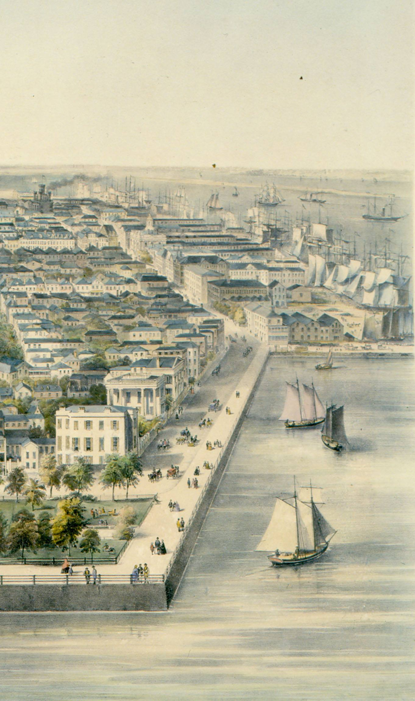 lithograph of charleston