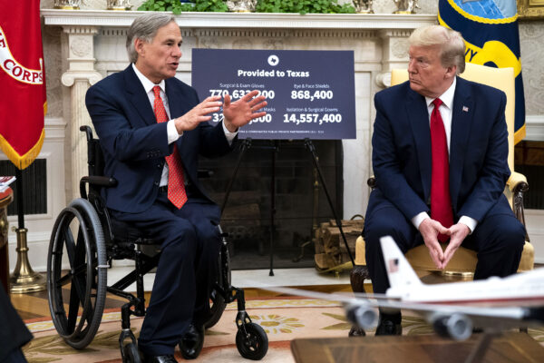 President Trump Meets With Texas Governor Abbott At The White House