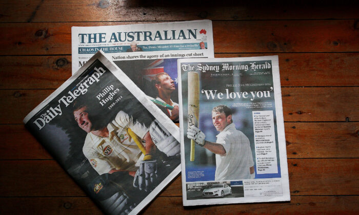 The Australian and Daily Telegraph as two of many newspapers belonging to News Corp. SYDNEY, AUSTRALIA - NOVEMBER 28, 2014.(Lisa Maree Williams/Getty Images)