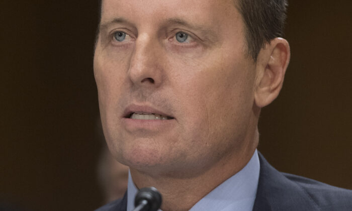 Richard Grenell, nominee to be U.S. ambassador to Germany, testifies during a Senate Foreign Relations Committee hearing on Capitol Hill in Washington on Sept. 27, 2017. (Saul Loeb/AFP via Getty Images)