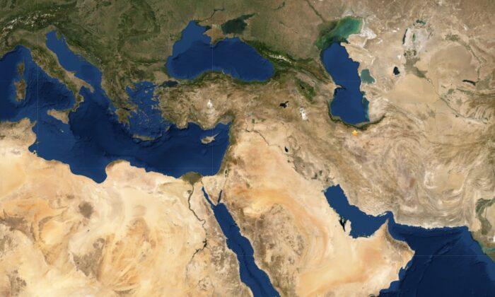 5.1 magnitude earthquake strikes Iran on May 8, 2020. (USGS)