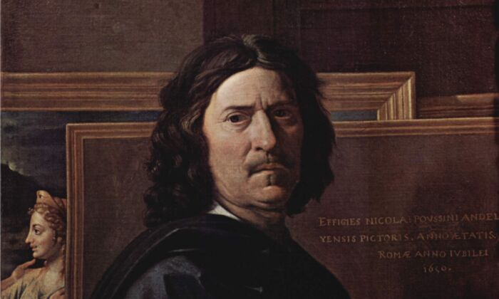 Self-portrait, 1650, by Nicolas Poussin. Oil on canvas; 30.7 inches by 37 inches. The Louvre Museum. (Public Domain)