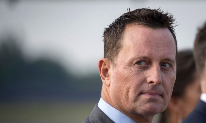 Richard Grenell at Tegel airport in Berlin, Germany, on May 31, 2019. (Odd Andersen/AFP via Getty Images)