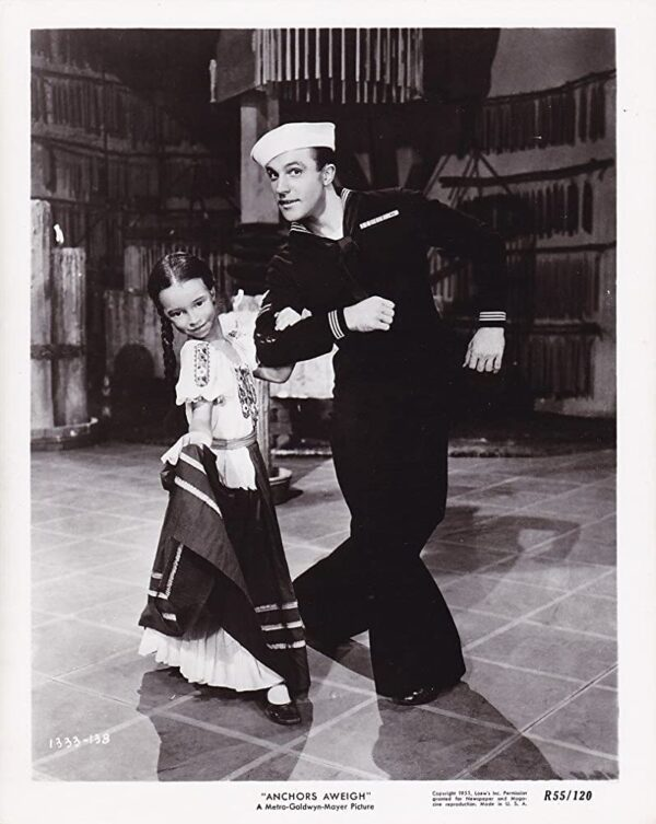 Anchors Away with Gene Kelly dancing with little girl