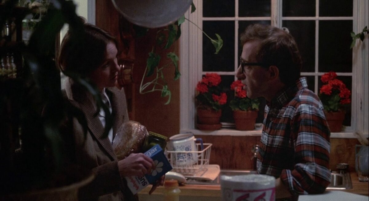 """man and woman in a kitchen in """"Annie Hall"""""""