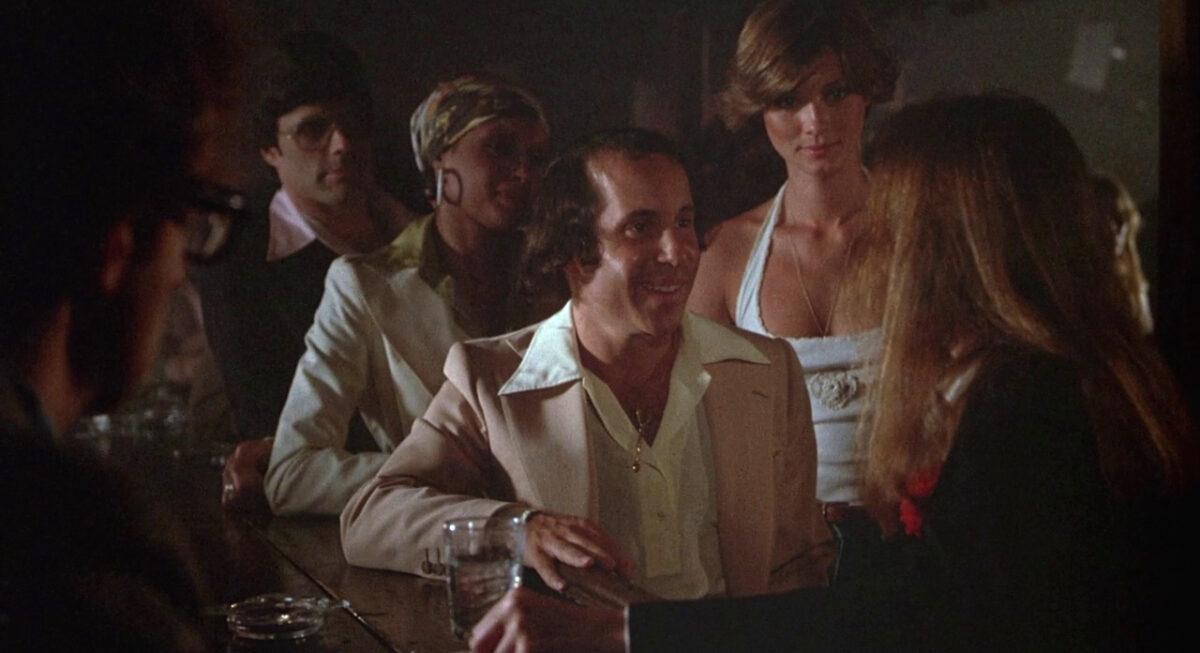 "Paul Simon in bar scene in ""Annie Hall"""