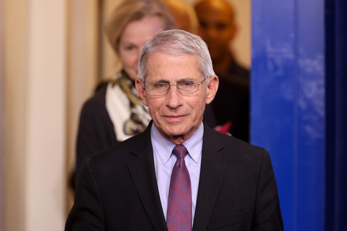 Dr. Anthony Fauci of the National Institutes