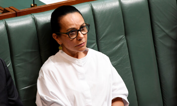 Labor MP Linda Burney, Parliament House, Canberra, Australia, on Feb 14, 2019. (Tracey Nearmy/Getty Images)