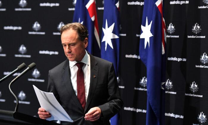Minister for Health Greg Hunt, Canberra, Australia, April 8, 2020. (Sam Mooy/Getty Images)