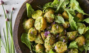 Spring Potato Salad With Green Garlic Dressing