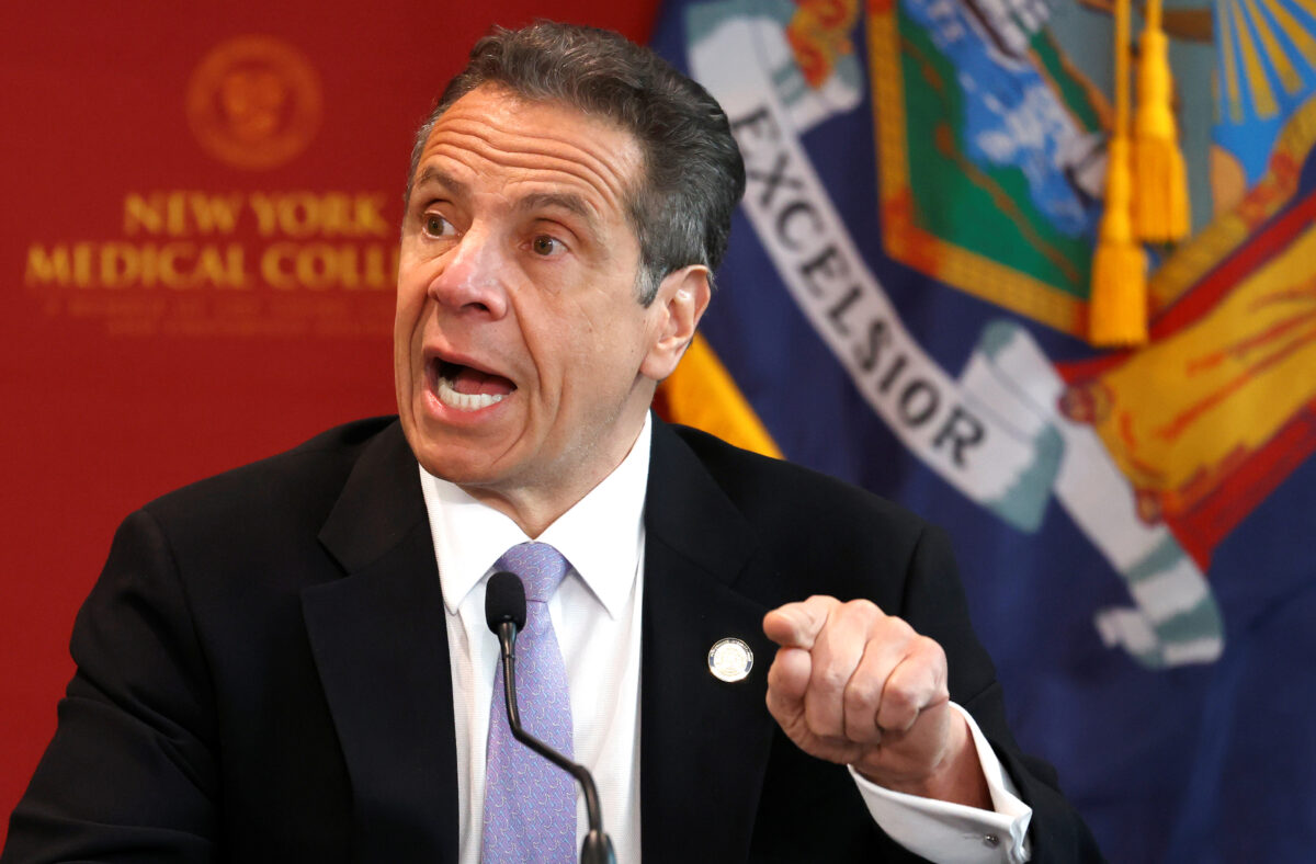New York Governor Andrew Cuomo holds daily briefing during outbreak of the coronavirus disease (COVID-19) in Valhalla