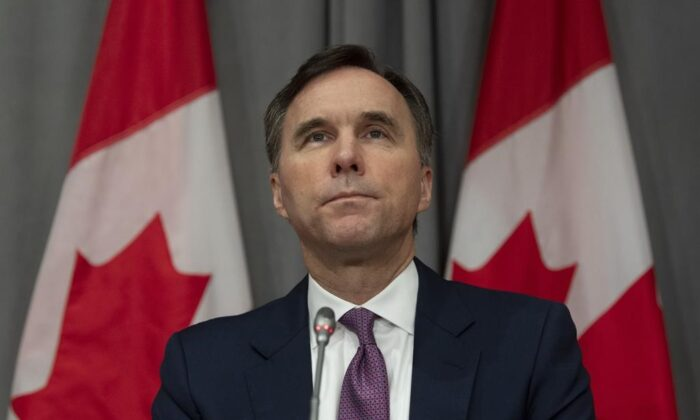 Canada's Finance Minister Bill Morneau. (The Canadian Press)