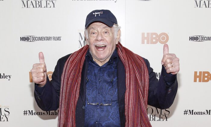 "Actor Jerry Stiller arrives at the special screening of HBO's Documentary ""Whoopi Goldberg presents Moms Mabley"" at The Apollo Theater in New York on Nov. 7, 2013. (Mark Von Holden/Invision/AP)"