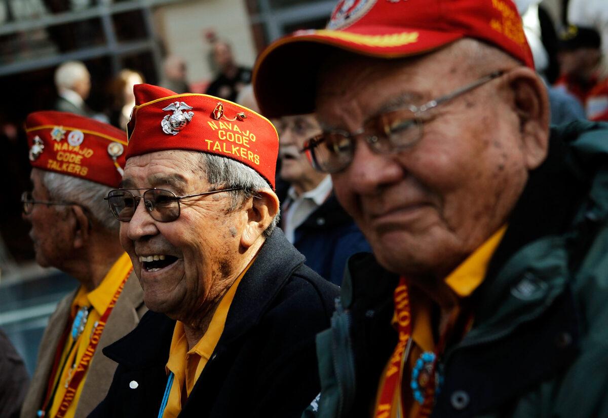 Navajo Code talkers attend ceremony