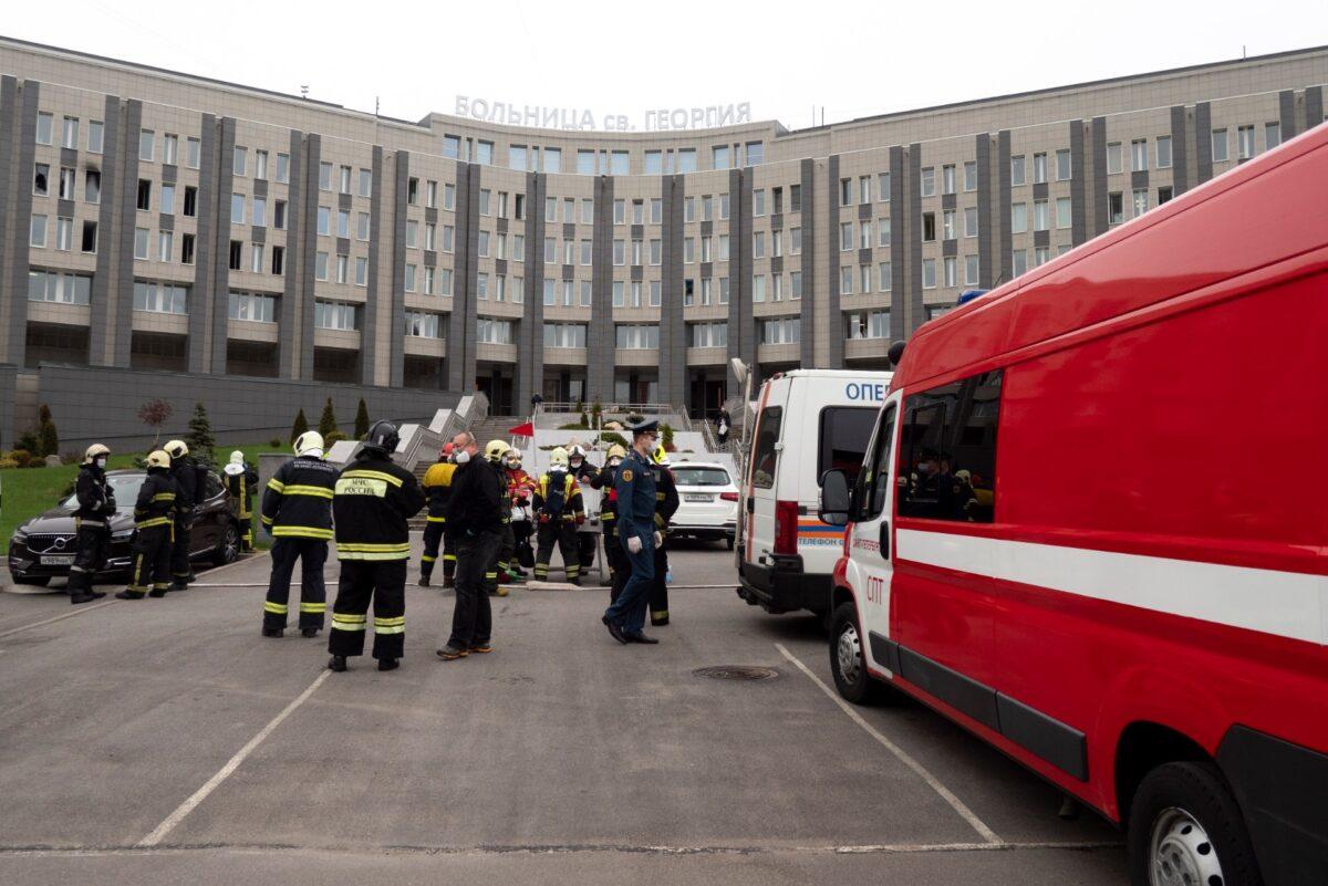 Hospital-CCP Virus-Fire-Russia