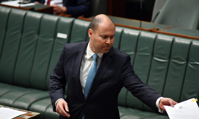 Treasurer Josh Frydenberg,  Parliament House, Canberra, Australia, May 12, 2020. (Sam Mooy/Getty Images)