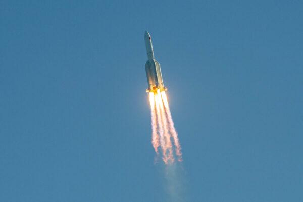 A Long March 5B rocket lifts off