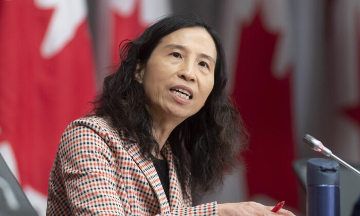 Chief Public Health Officer Theresa Tam speaks during a daily briefing Wednesday May 13, 2020 in Ottawa. (Adrian Wyld/THE CANADIAN PRESS)