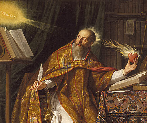 """""""St. Augustine,"""" between 1645 and 1650, by Philippe de Champaigne. Oil on Canvas; 30.9 inches by 24.4 inches. Los Angeles County Museum of Art. (Public Domain)"""