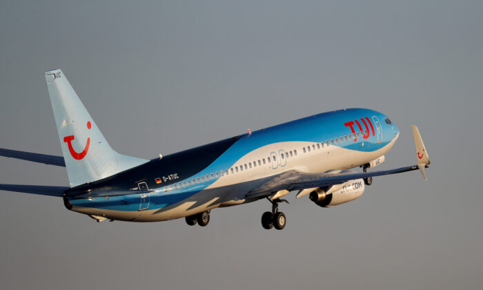 A TUI Boeing 737-800 plane takes off from the airport in Palma de Mallorca, Spain, on July 29, 2018. (Paul Hanna/File Photo/Reuters)