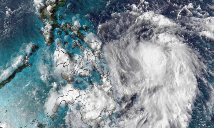 Vongfong Tropical Storm. (Courtesy of CNN Weather)