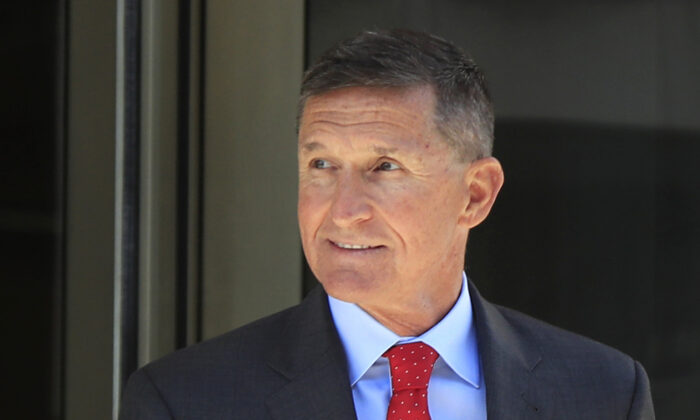 Former Trump national security adviser Michael Flynn leaves the federal courthouse following a status hearing in Washington on July 10, 2018. (Manuel Balce Ceneta, File/AP photo)