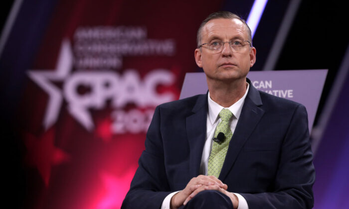 Rep. Doug Collins (R-Ga.) speaks during the annual Conservative Political Action Conference (CPAC) at Gaylord National Resort & Convention Center in National Harbor, Maryland, on Feb. 27, 2020. (Alex Wong/Getty Images)