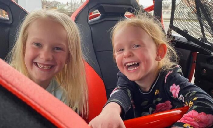Sisters Kinzley (L) and Ellie (R) from Salt Lake City. (GoFundMe)