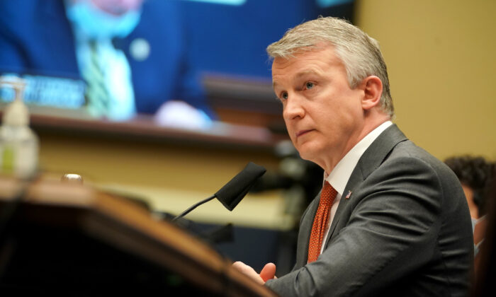 Dr. Rick Bright testifies before the House Energy and Commerce Subcommittee on Health in Washington on May 14, 2020. (Greg Nash/AFP/Getty Images)