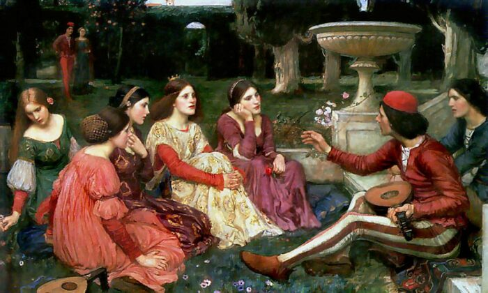 "'A Tale from 'The Decameron,'"" 1916, by John William Waterhouse. Lady Lever Art Gallery, National Museums, Liverpool. (Public Domain)"