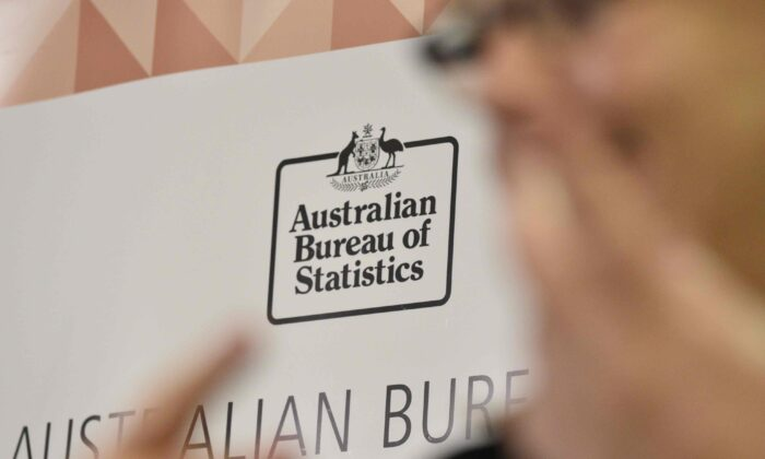 Australian Bureau of Statistics logo in Canberra, Australia. (Michael Masters/Getty Images)