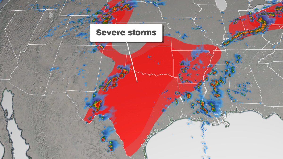 Severe Storms in Plains
