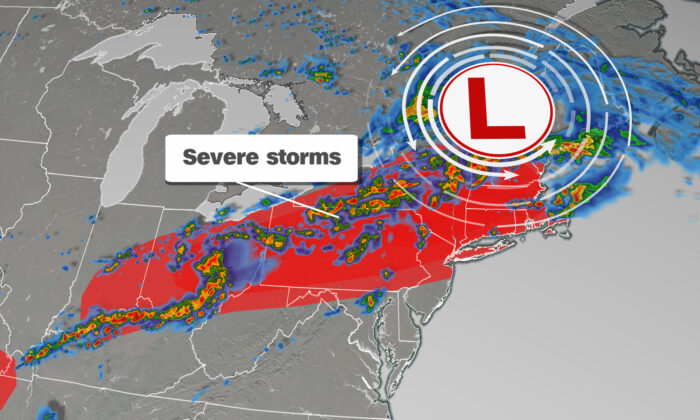 Severe Storms in the Northeast. (Courtesy of CNN Weather)