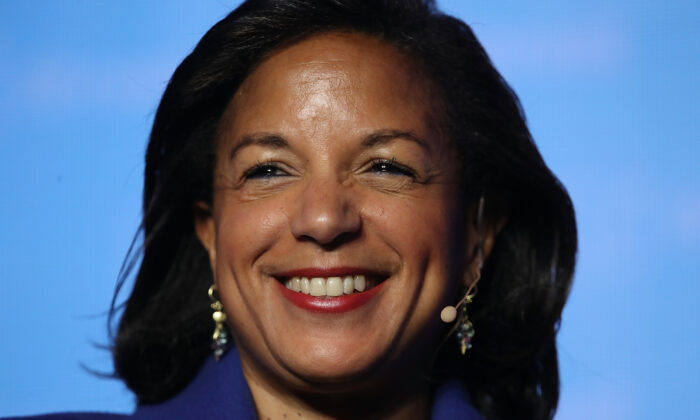 Former National Security Advisor Susan Rice speaks at the J Street 2018 National Conference in Washington on April 16, 2018. (Win McNamee/Getty Images)